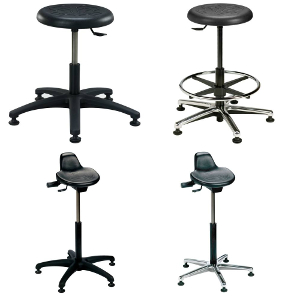 Round and Sit/Stand Stools