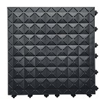 Ergo Advantage AM1 Series AntiMicrobial Safety Tile System (Black, Closed Tile, 18
