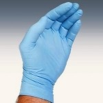 Akers N103 Powder-Free Nitrile Gloves - Large